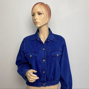 Vintage Sundance Blue Denim Wash Jacket Small